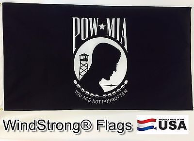 3x5 3 x 5 ft US American Made Flag POW/MIA   -MADE IN USA-