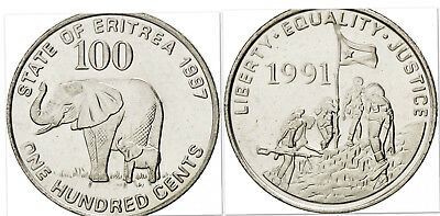 Eritrea 1991 100 Cents Uncirculated (KM48)