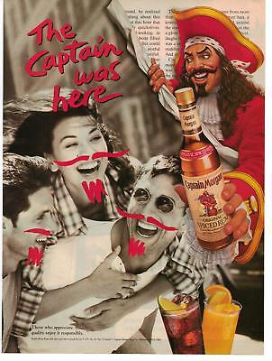 1996 Captain Morgan Spiced Rum Bottle Magazine Advertisement Ad Page Nice