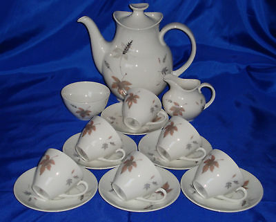 Royal Doulton TUMBLING LEAVES Coffee Set Excellent