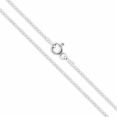 Sterling Silver Box Chain 1.1mm Genuine Solid 925 Italy Classic New Necklace