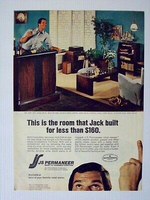 1974 JS Permaneer Ready To Assemble Furniture Magazine Print Advertisement Page
