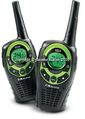 2 X Radio Talkie-Walkie  Midland M24 10km +