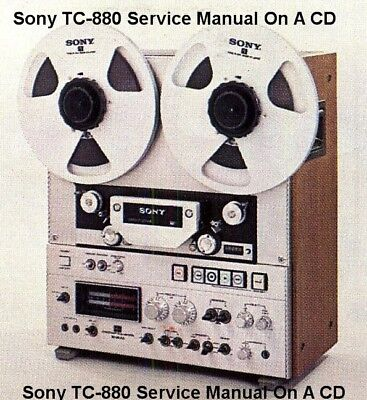 Sony TC-880-2 REELTO REEL SERVICE  MANUAL ON A CD FREE SAME DAY  SHIPPING