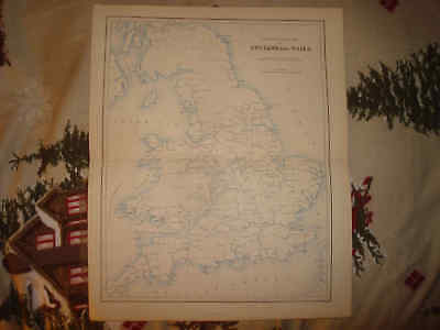 Antique England Wales Inland Navigation River Map Nr