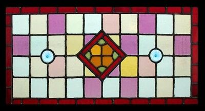 Antique English Victorian Stained Glass Rondels Window