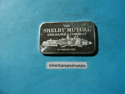 Shelby Mutual Insurance Commercial 999 Silver Art Bar Rare Item