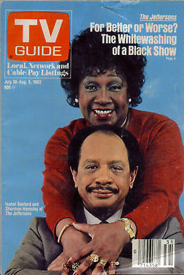 TV GUIDE JULY 30 1983 THE JEFFERSONS NY STATE EDITION