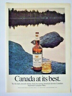 1975 Canadiam Mist Whisky Bottle Fisher Lake Magazine Print Advertisement Page