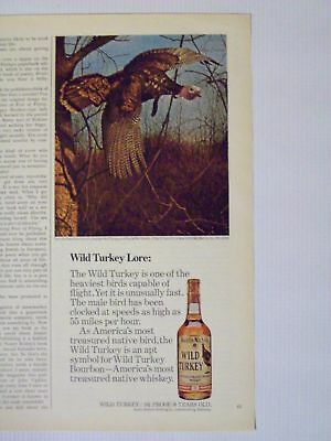 1975 Wild Turkey Kentucky Bourbon Whiskey Magazine Print Advertisement