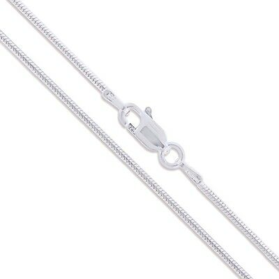 Sterling Silver Snake Chain 1.2mm Solid 925 Italy New Brazilian Necklace