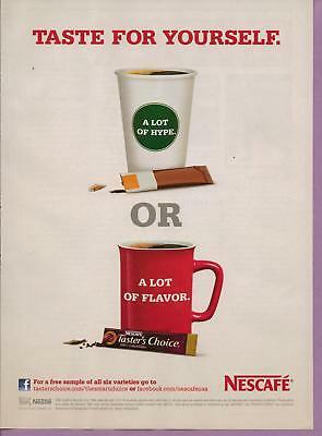 2011 Nescafe Taster's Choice Coffee Magazine Print Advertisement Page