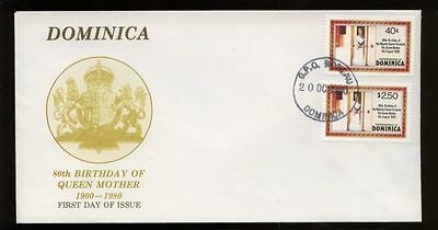 Dominica 1980 Queen Mothers 80th Birthday FDC