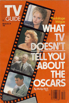 Tv Guide March 25 1989 The Oscars  Ny. Edt