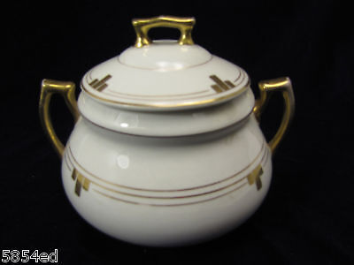 Edwin M Knowles Sugar Bowl With Lid