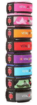 Kids! Adjustable Medical Alert ID Bracelets ~ 8 Colors!