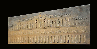 Iranian Persion Wall relief sculpture art carving artist stone marble solderes
