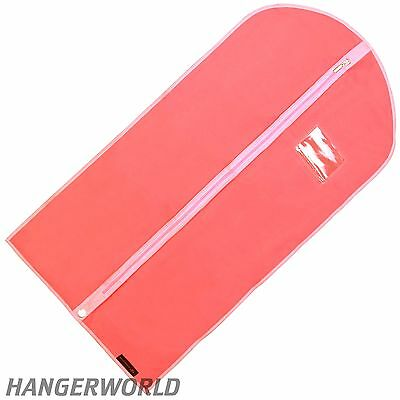 "3 Pink Girls Breathable Dress Covers Clothes Garment Dance Bag 38"" Hangerworld"