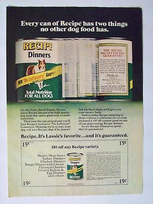 1976 Recipe Dinners Canned Dog Food Magazine Advertisement Ad Page