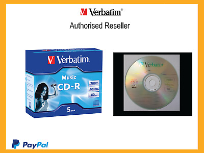 62620  CD-R 80min Verbatim DIGITAL AUDIO CD 5Pk Jewell Case 40x