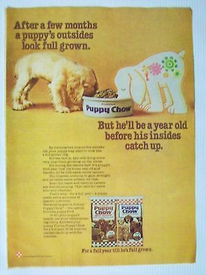 1976 Purina Puppy Chow Dry Dog Food Magazine Advertisement Ad Page