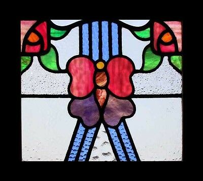 Stained Glass Window Mackintosh Rose Butterfly Antique Rare