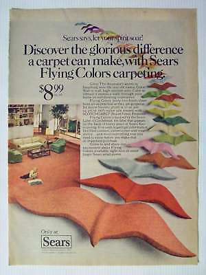 1978 Sears Flying Colors Floor Carpet Magazine Advertisement Ad Page