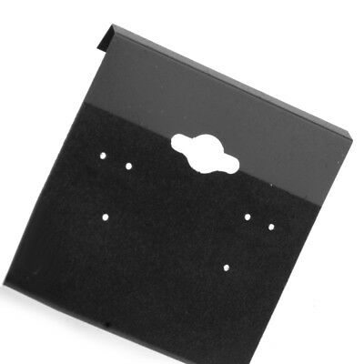 100pcs VELVET JEWELRY EARRINGS DISPLAY HANG CARDS BLACK FLOCKED 2X2 INCH