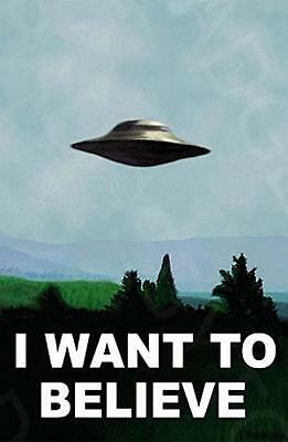 I WANT TO BELIEVE - X-FILES LARGE fridge magnet - COOL!