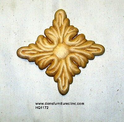 "WOOD EMBOSSED APPLIQUE 4 1//8/"" X 3/""  HQ1215"