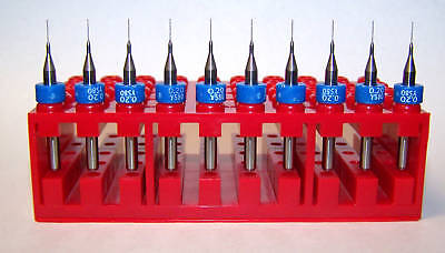 "(10) .20mm (.0079"") Micro Carbide Drills, New"