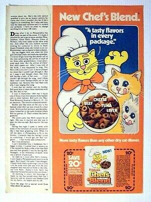 1978 Friskies Chef's Blend Cat Food Magazine Print Advertisement Page