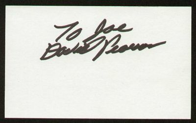 David Pearson signed auto 3x5 index card NASCAR Great