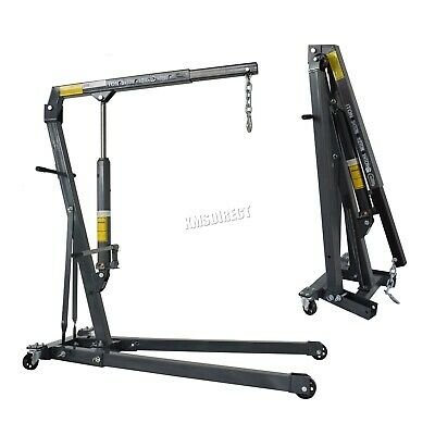 SwitZer 1 Ton Tonne Engine Crane Stand Hoist lift Jack Hydraulic Folding Grey