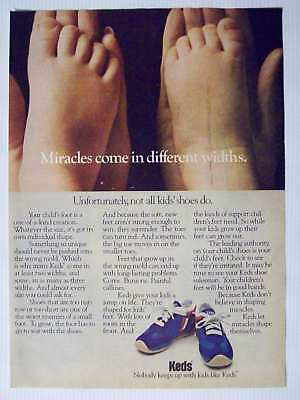 1978 Keds Kids Shoes Feet Vintage Magazine Print Advertisement Page