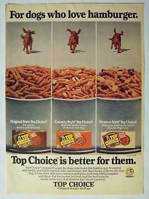 1978 Top Choice Burger Dog Food Magazine Print Advertisement Page