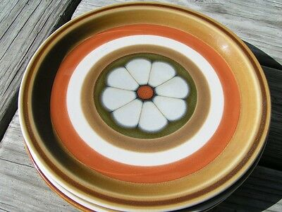 Stanwyck 4152 Made in Japan LOT 3 DINNER PLATES browns