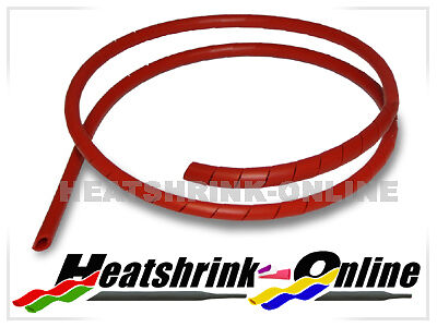 3mm Red Spiral Cable Binding Wrap Per 1 Metre