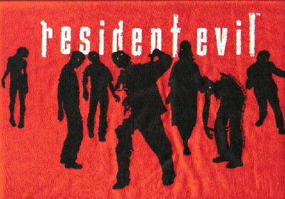 Resident Evil Name Logo and Zombie Crowd T-Shirt LG