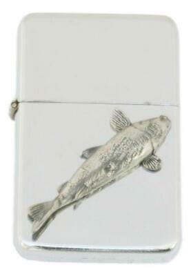 Koi Carp Petrol Lighter FREE ENGRAVING  Gift Boxed