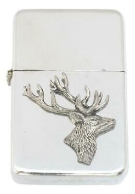 Stag Head Petrol Lighter FREE ENGRAVING Shooting Gift