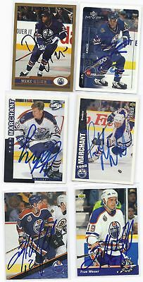Mike Grier Signed Hockey Card Edmonton 1999 Topps