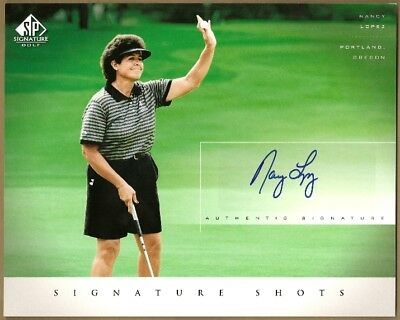 NANCY LOPEZ - 2004 04 UD SP SIGNATUE SHOTS HAND SIGNED AUTO 8x10 CARD #NL  ***