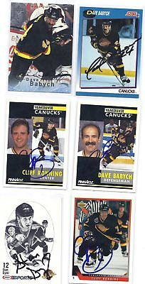 Cliff Ronning Signed Hockey Card Vancouver 1993 UD