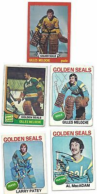 Gilles Meloche Signed Hockey Card California 1973 Topps
