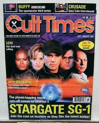 1999 Cult Times British Mag #47- STARGATE SG-1/BUFFY