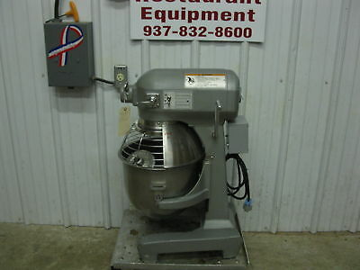 Hobart A200 Bakery Food Dough Mixer 20 Qt w/ Stainless Bowl Guard Paddle Whip
