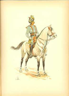 GB Madras Cavalry Officer Lithography Louis Vallet 1891