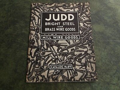 Judd Bright Steel & Brass Wire Goods Mill Wire 1959 Catalog #89 Wallingford Ct