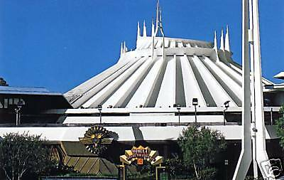 Disney Postcard Space Mountain Attraction DL
